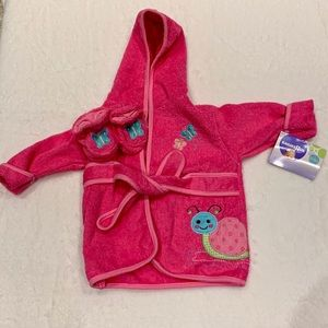 Babies R Us Baby Girl Pink Butterfly Snail Robe